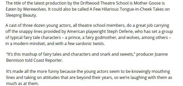 Driftwood Players: Theatre School
